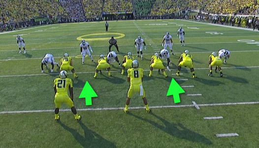 Look at the splits and note the linebackers of Michigan State.