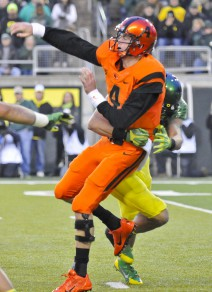 Quarterback Sean Mannion looks to get his first victory against USC this next weekend.