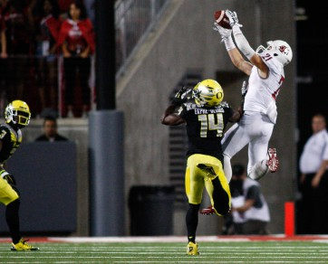 """Ifo Ekpre-Olumu admitted after the Washington State game, """"This was definitely not my night."""""""