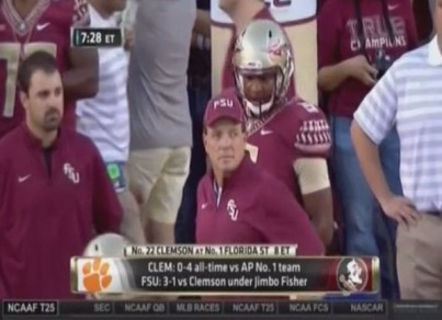 Jimbo Fisher can't believe Winston showed up dressed to play. Leave your caption in the comments below.