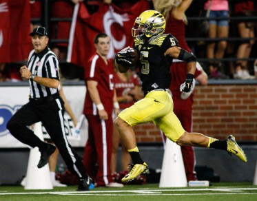 Devon Allen is tied for 1st in the country with 5 touchdowns