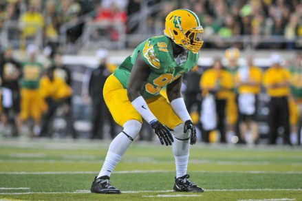Tony Washington is in the top three Oregon players in sacks, tackles for losses, and forced fumbles.