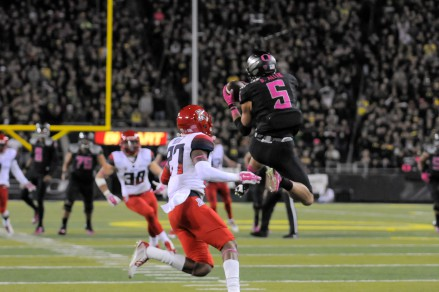 Devon Allen exemplifies the excellence that is Oregon athletics -- on the track and on the gridiron.