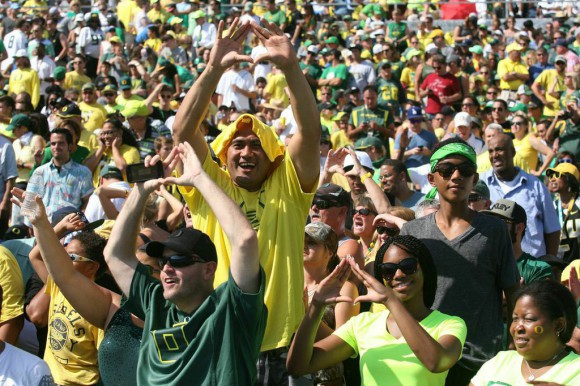 Oregon fans traveled well to Pasadena