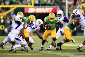 Freeman nearly ran 1000 rushing yards during his first year as a Duck.