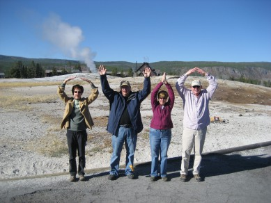 My parents and friends representing O-H-I-O at Yellowstone.
