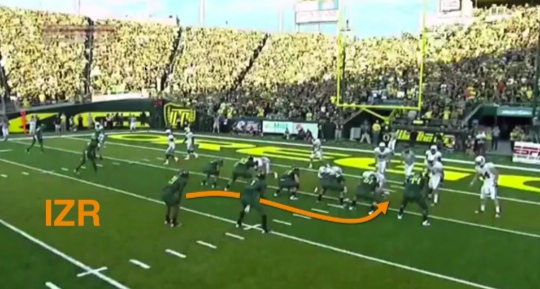 The original Inside Zone Read at Oregon.