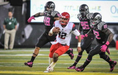 Arizona as a team ran for over 200 yards and three TD's against Oregon.