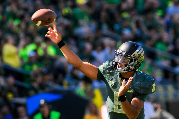 Marcus Mariota, Oregon's all-time leader in passing yardage.