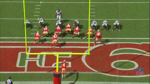 The Eagles offense scored 0 points against the 49ers, but the punt block team helped keep them afloat in the first quarter.