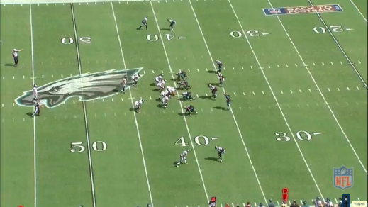 Boykin (#22, lower right, at the Jaguars' 40-yard line) at right gunner.