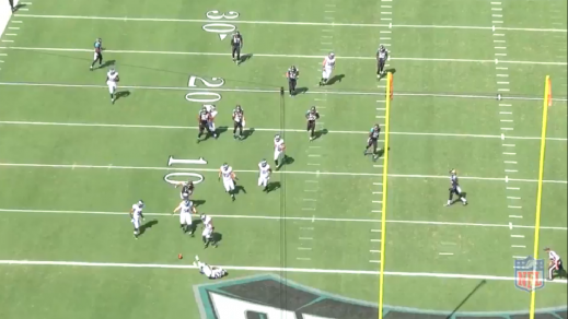 Boykin puts the ball down at the 1 right before he falls into the endzone, allowing his teammates to pick it up.