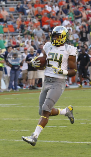 Aloha's Thomas Tyner was the Ducks leading rusher in the Rose Bowl.