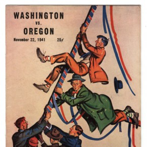 The Oregon-Washington football program from 1941