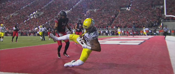 Pharaoh Brown scores a TD in better times.