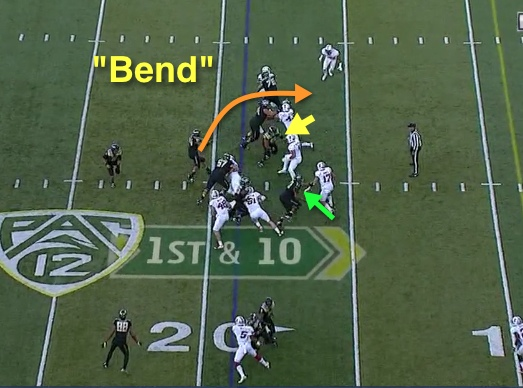 This is not Beckham, but bending it Oregon style.