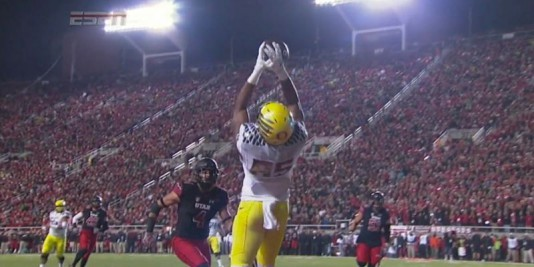 Pharaoh Brown made a great leaping grab in the corner of the end zone, before eventually being carted off the field.