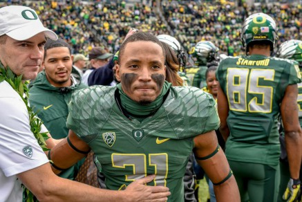 The opportunity to let guys like Kenny Bassett (31) get some playing time in their final home game was one of Helfrich's goals on Saturday.