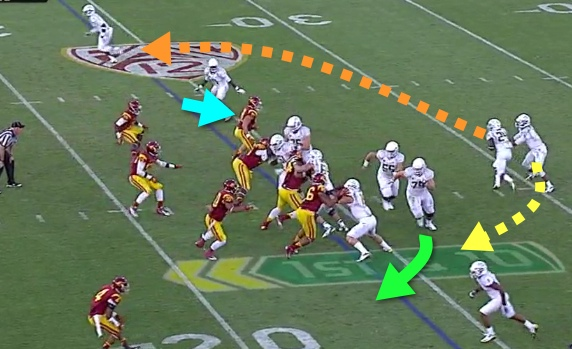 There it is! The QB Sweep Read and RB Bootleg of 2012!