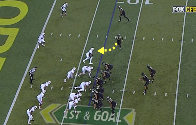 Blocking the defender responsible for the QB from a different direction!