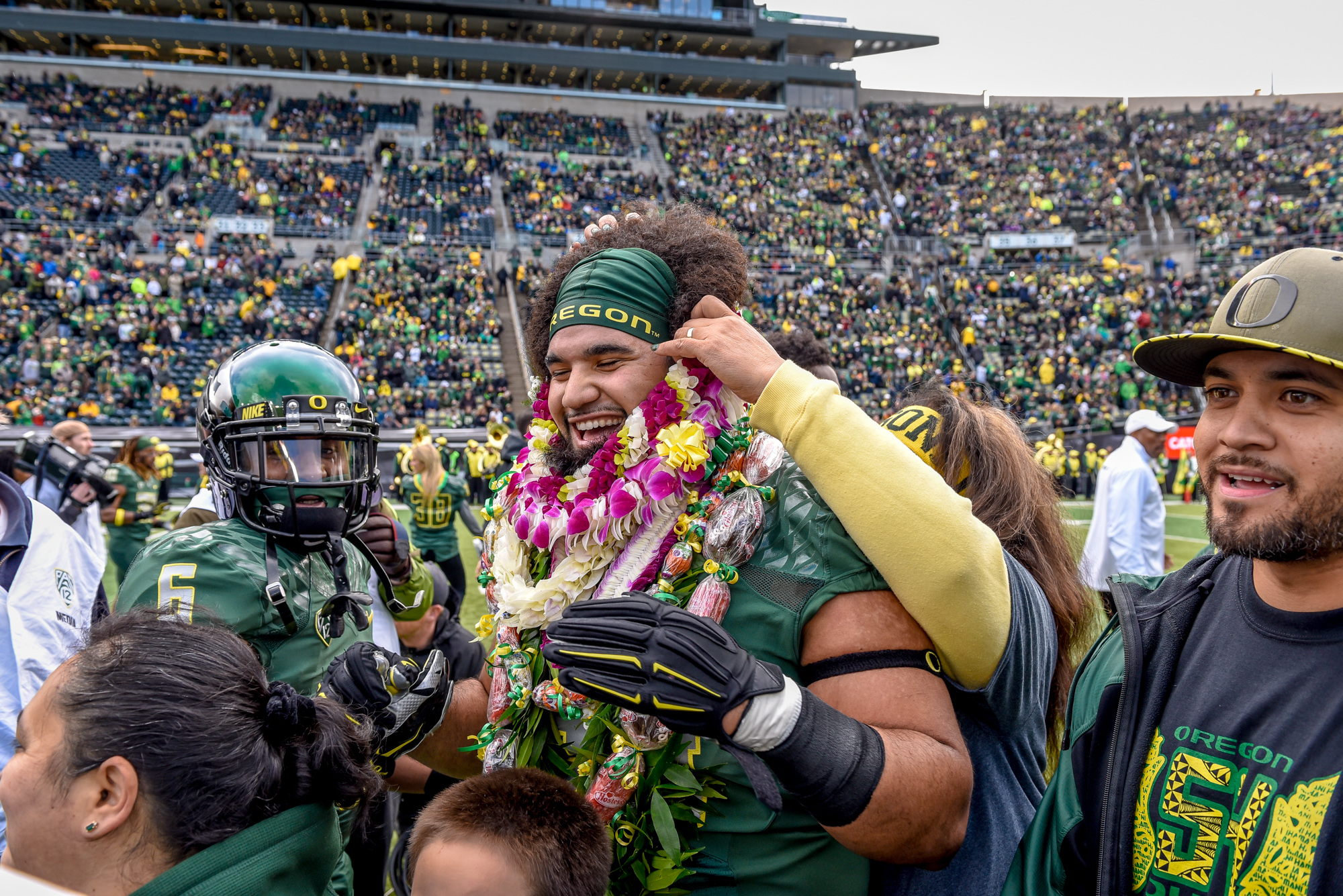 Stevens', the beloved Senior, last play at Autzen was a touchdown.