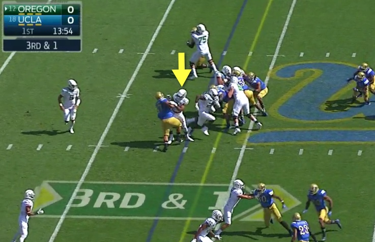 Great kick-out and hole created by the TE or F-Back.