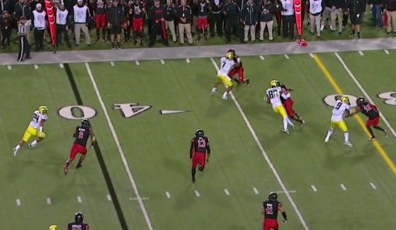 Speed and powerful running was Tyner's formula in this game.