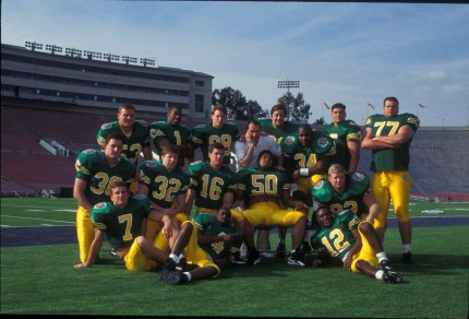 Brooks and the Ducks before the Rose Bowl
