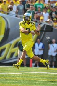 Marcus Mariota is the favorite to win the Heisman this season