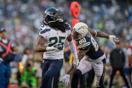 Richard Sherman smothering the San Diego Chargers