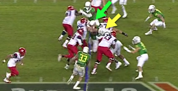 No man's land for a RB!