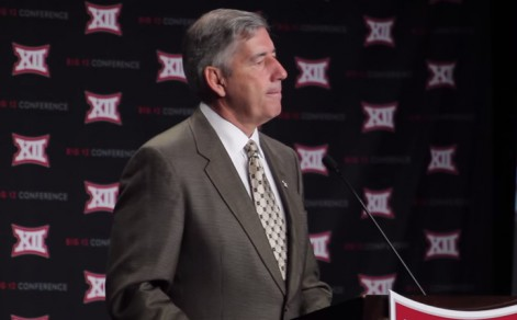 Big 12 Commissioner Bob Bowlsby expressed disappointment over the final playoff rankings