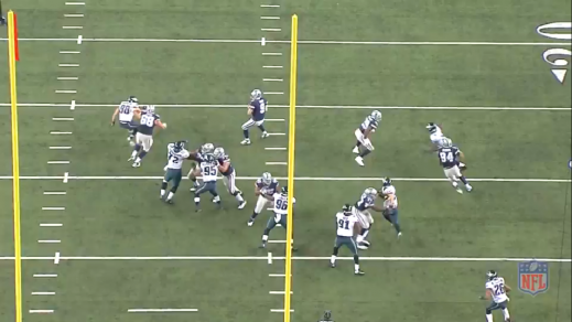 It is not the prettiest battle, largely because of a size mismatch, but Matthews holds his own just enough to stay within range of the quarterback.