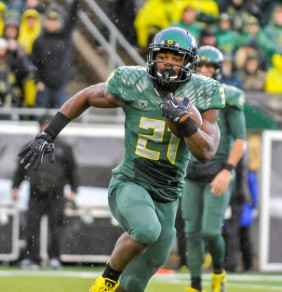 """Touchdown"" Freeman is the first true freshman in Oregon history to rush for over 1,000 yards"
