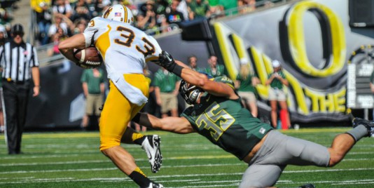 Joe Walker stretches out for one of many tackles this season