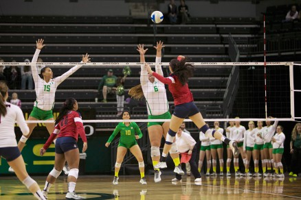 Liz Brenner, sister of Doug, is a star on the volleyball court.