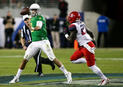 Marcus Mariota being amazing in Fridays victory over Arizona.