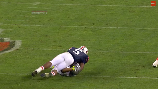 Michael Dyer's knee never touched the ground