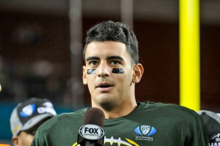 QB and Hesiman winner Marcus Mariota. So much can be said about what kind of a person he is on and off the field.