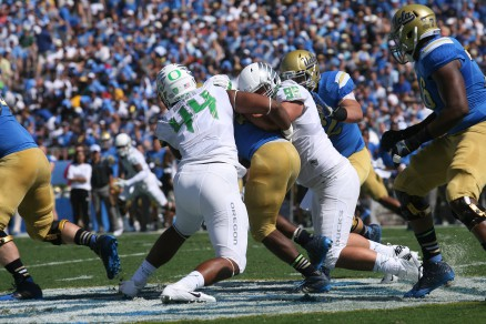 DeForest Buckner and the Ducks defense slowed the UCLA offense early.