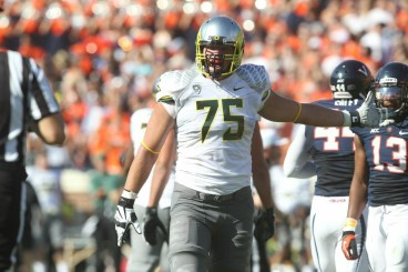 OT Jake Fisher has been a veteran and mentor to younger Ducks throughout his tenure at Oregon.