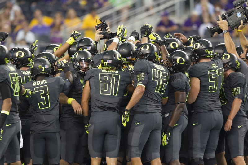 Oregon has tried a variety of unique options, including these jerseys from 2011 against LSU