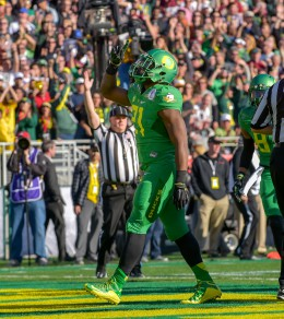 Royce Freeman is a force to be reckoned with between the tackles