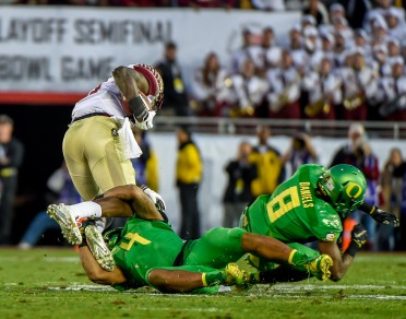 Dargan makes a spectacular tackle against FSU in the Rose Bowl.