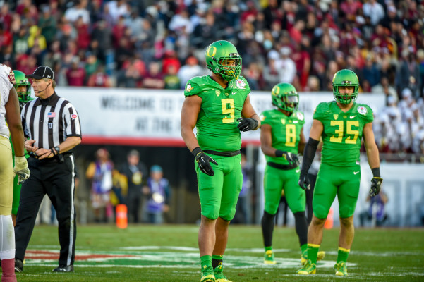 Armstead has size that defensive coordinators in the NFL want. Photo: Craig Strobeck