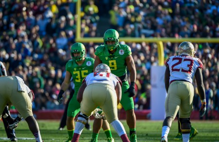 Arik Armstead starring down the competition