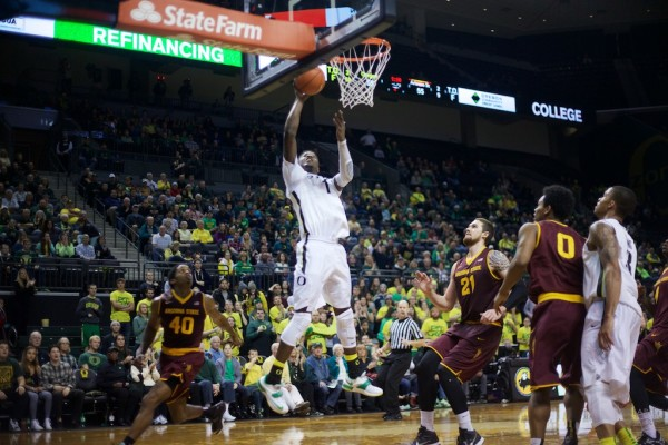 Players like Jordan Bell will need to play well if the Ducks hope to advance out of the Pac-12 this season. Photo: Donald Alarie
