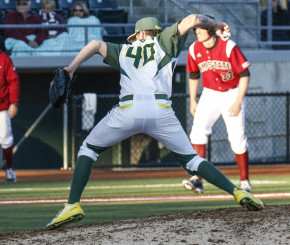 Sheldon high school graduate and Oregon reliever Cooper Stiles held on to help close the Aggies out.