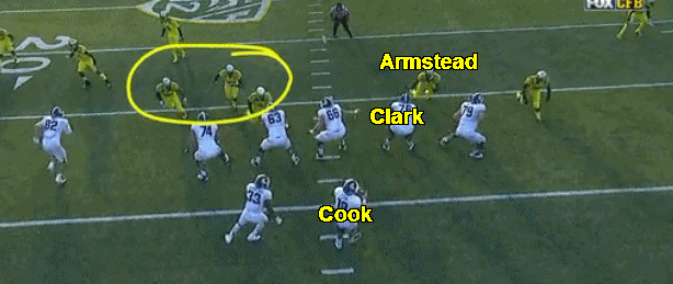 Armstead at 3-technique.