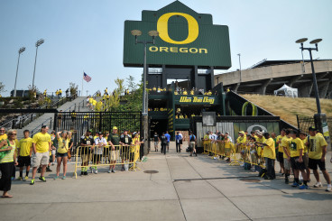 Players Entrance Into Autzen Stadium